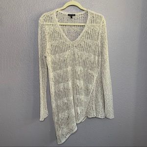 Eileen Fisher Sweater Loose Knit Asymmetrical